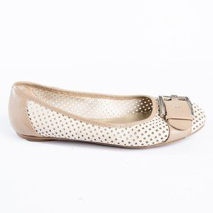 Anne Klein perforated flats with buckle size 8.5
